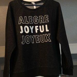 Black Joyful Sweater